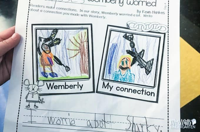 Wemberly Worried Read Aloud Lesson Ideas. These activities for Wemberly Worried will be a big hit in your kindergarten or first-grade classroom. Reading comprehension questions and response activities. Even a couple of fun Wemberly Worried crafts! Check it out!