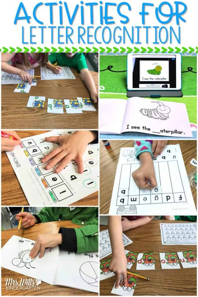 Letter recognition activities and alphabet intervention ideas for kindergarten students. Ideas to help your students with letter naming. See how to teach letter sounds to struggling students.