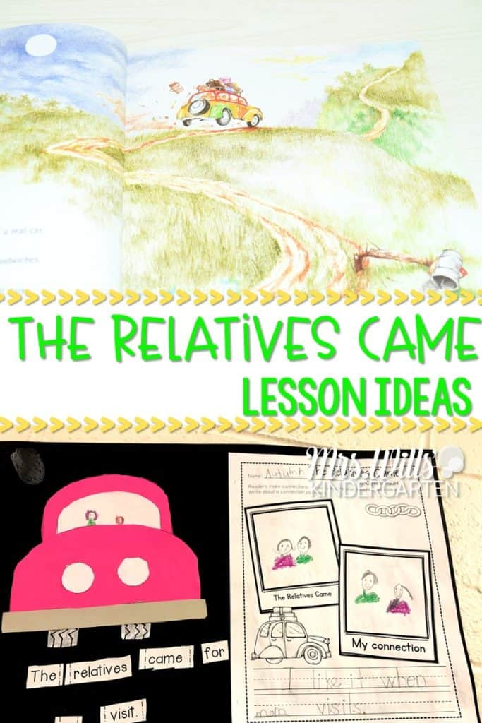 The Relatives Came Read Aloud and Lesson Plans in Kindergarten. This blog post will give you classroom activities that you can use for reading and writing. Reading comprehension and responding to literature, too! Fun arts and craft ideas for your classroom. FREE Center Activity included.