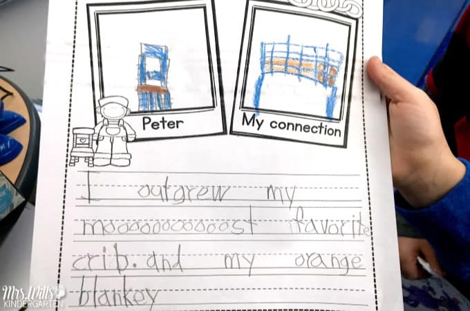 Ezra Jack Keats Peter's Chair Lesson ideas for kindergarten and first grade includes reading, writing, retelling, a craft, STEM, and more! Click to download free editable lesson plan template #ezrajackkeats #peterschair #kindergartenlessonplans #freelessonplanning