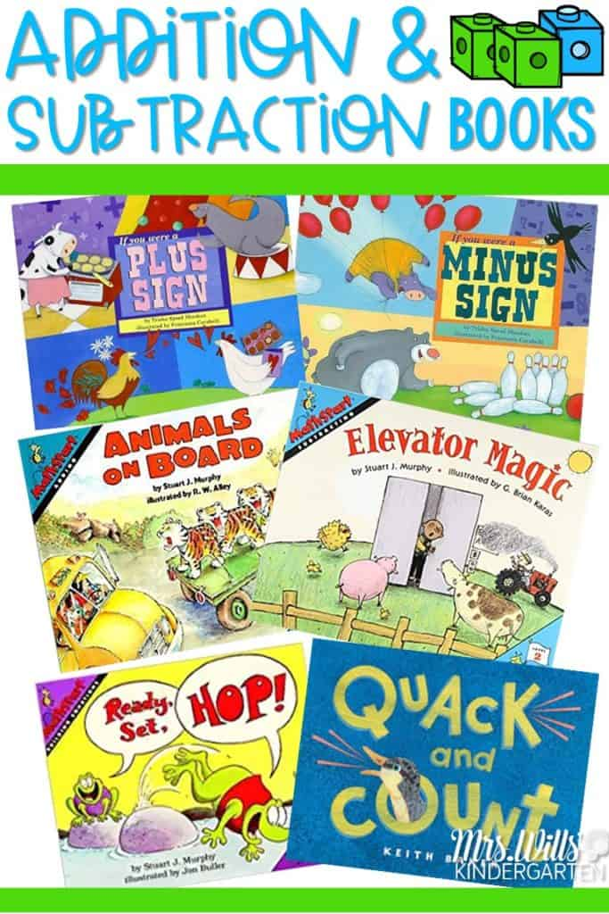 Addition Books for Kindergarten and Subtraction Books for Kindergarten