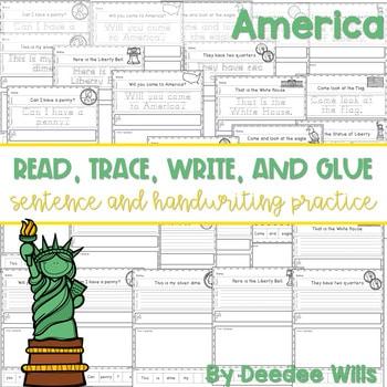 America: Read, Trace, Glue, and Draw 1
