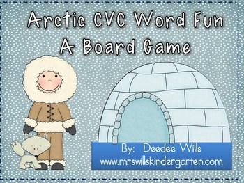 Arctic CVC Word Fun ~ A Board Game 1