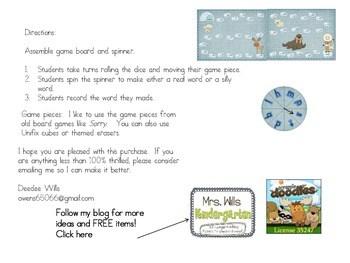 Arctic CVC Word Fun ~ A Board Game 2