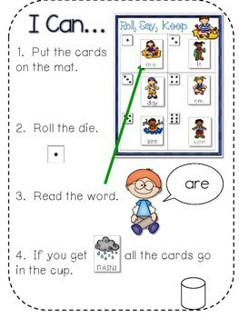 BEACH! Sight Word Roll, Say, Keep-Editable 2