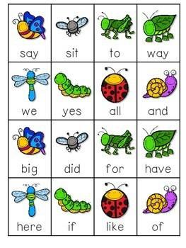 BUGS! Sight Words Roll, Say, Keep-Editable 3