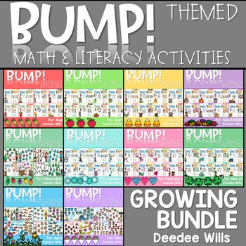 BUMP Games Monthly Math and Literacy BUNDLE 1