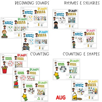 BUMP Games Monthly Math and Literacy BUNDLE 2