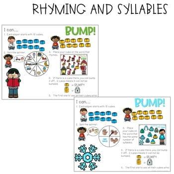 BUMP Games Monthly Math and Literacy Kindergarten | DECEMBER 3