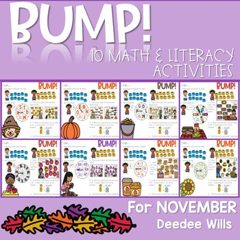 BUMP Games Monthly Math and Literacy NOVEMBER 1