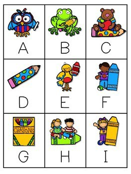 Back to School ABC Game ~ editable 1