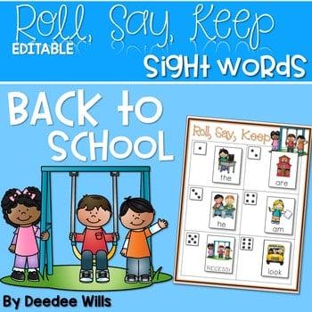 Back to School Alphabet Roll, Say, Keep ~ editable 1