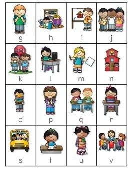 Back to School Alphabet Roll, Say, Keep ~ editable 4