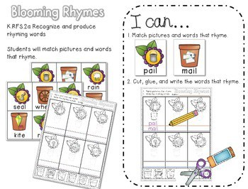 Bring on Spring!-Common Core Math and Literacy Activities 2
