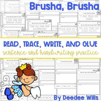 Brusha Brusha (dental health): Read, Trace, Glue, and Draw 1