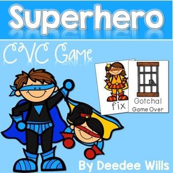CVC Superheroes Memory Match and Gotcha! Game 1