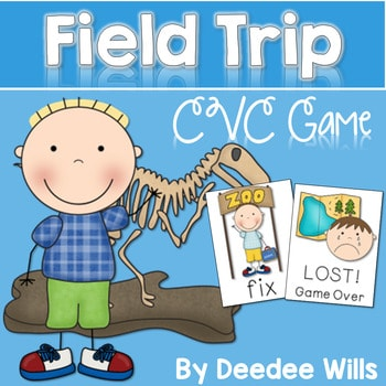 CVC Word Game: Field Trip and Lost! Game 1