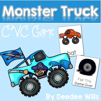 CVC word game: Monster Truck and Flat Tire CVC Game 1