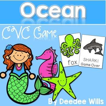 CVC word game: Ocean and SHARK!!! CVC Game 1