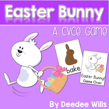 CVCe Word Game: Easter Bunny 1