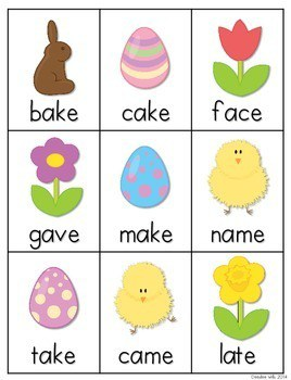 CVCe Word Game: Easter Bunny 3