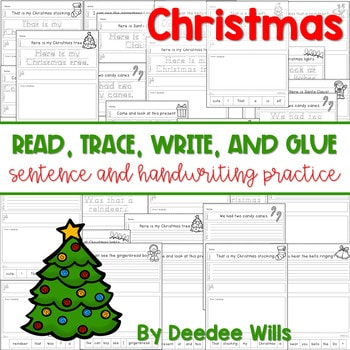 Christmas Read, Trace, Glue, and Draw 1