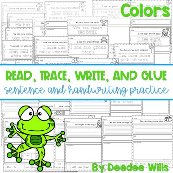 Color and Number Words: Sentence Writing 1