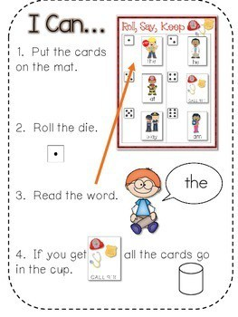 Community Helpers ABC and Sight Word Roll, Say, Keep ~ Editable 2