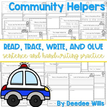 Community Helpers: Read, Trace, Glue, and Draw 1