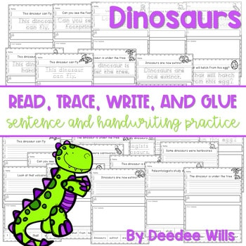 Dinosaur: Read, Trace, Glue, and Draw 1