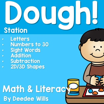 Dough Centers for Math and Literacy 1