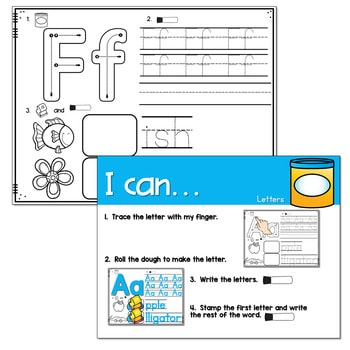 Dough Centers for Math and Literacy 3