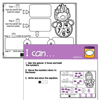 Dough Centers for Math and Literacy 4