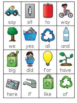 Earth Day ABC and Sight Words Roll, Say, Keep ~ Editable 3
