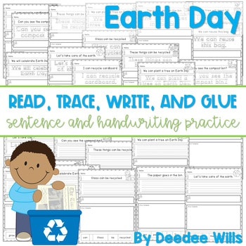 Earth Day: Read, Trace, Glue, and Draw 1