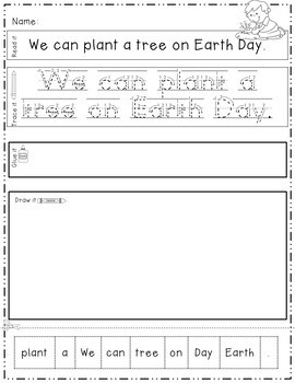 Earth Day: Read, Trace, Glue, and Draw 4