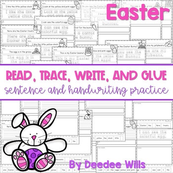 Easter Read, Trace, Glue, and Draw 1