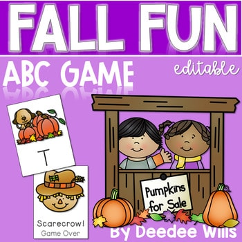 Fall Fun ABC Memory and Game ~ Editable 1