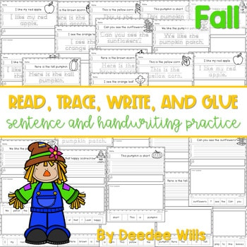 Fall Read, Trace, Glue, and Draw 1