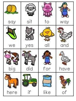 Farm ABC and Sight Word Roll, Say, Keep ~ Editable 3