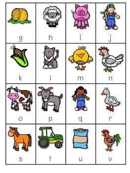 Farm ABC and Sight Word Roll, Say, Keep ~ Editable 4