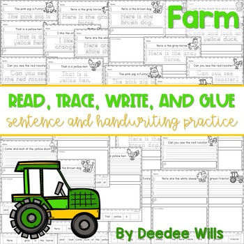 Farm Read, Trace, Glue, and Draw 1