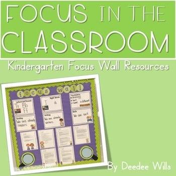 Focus Wall: Focus in the Classroom-Editable 1