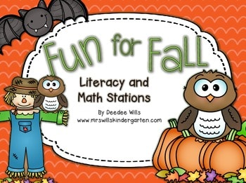Fun for Fall Literacy and Math Stations-Common Core 1