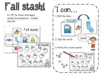 Fun for Fall Literacy and Math Stations-Common Core 4