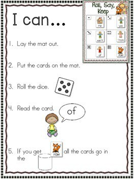 Gingerbread Man Sight Word and ABC Roll, Say, Keep-Editable 2