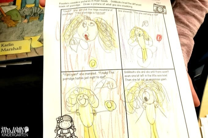 Goldilocks and the Three Bears Lesson Plans for kindergarten and first grade. Reading comprehension, story comparisons, retelling, math and literacy connections, and a fun fine motor activity!