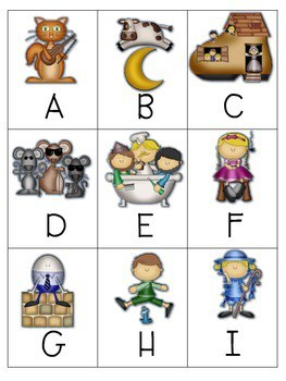 Goosed! Nursery Rhyme Memory and ABC Game-Editable 2