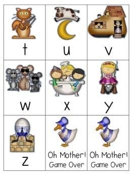 Goosed! Nursery Rhyme Memory and ABC Game-Editable 3