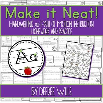 Handwriting - Make It Neat! Handwriting Practice, Instruction, and Fluency 1
